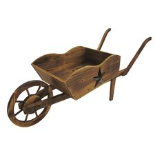 Char-log Novelty Wheelbarrow Planter