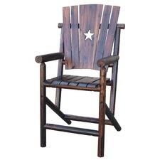 Char-Log Cut Out Star Bar Arm Chair I