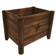 Char-Log Star Rectangular Planter Box