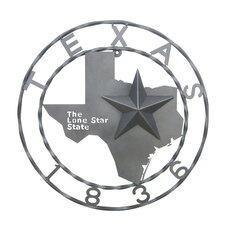 1836 Texas Map Star Wall Décor