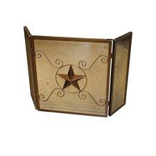 Star Emblem 3 Panel Fireplace Screen
