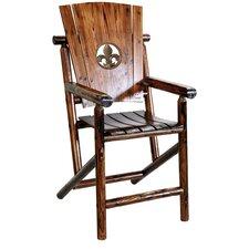 Char-Log Fleur de Lis Medallion Bar Arm Chair II