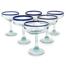 Javier and Efren Artisan Happy Hour Margarita Glass (Set of 6)