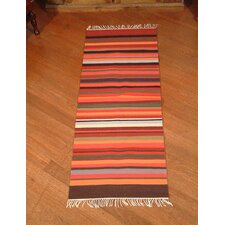 Highland Sunset Striped Area Rug