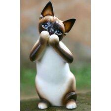 'Speak No Evil Siamese Cat' Figurine
