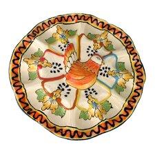 Jorge Quevedo Golden Harvest Ceramic Egg Plate