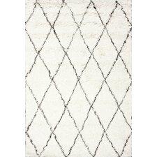 Moderna Moroccan Ivory Shag Area Rug