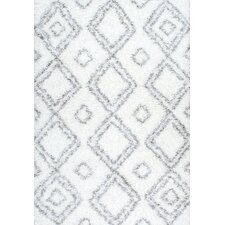 Layton White Shag Area Rug