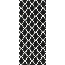 Gustav Kitchen Faux Black Area Rug