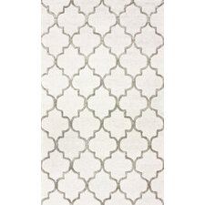 Hacienda Park Avenue Trellis Nickel Geometric Area Rug
