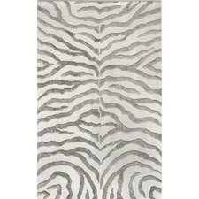 Earth Soft Zebra Gray Area Rug