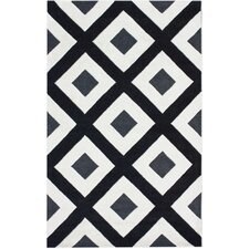 Bella Diamonds Black & White Area Rug
