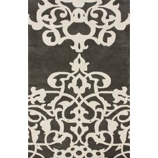 Bella Novara Pewter/White Area Rug