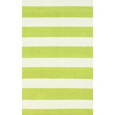 Serendipity Green Alina Stripes Area Rug