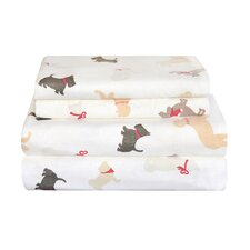 Winter Dogs Cotton Sheet Set