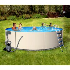 "12' Round 48"" Deep Rugged Steel Swimming Pool Package"