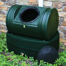 Compost Wizard Hybrid 7 Cu. Ft. Tumbler Composter and 47 Gallon Rain Barrel