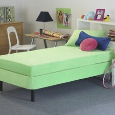 """8"""" Kid's Memory Foam Mattress with Water Proof Cover in Green"""