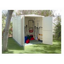 YardMate 5.5 Ft. W x 5.5 Ft. D Vinyl Garden Storage Shed