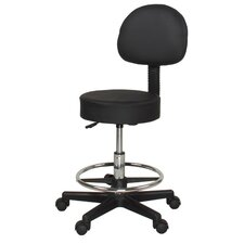 Relief Adjustable Stool with Wheels and Backrest
