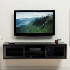 "Java On-Wall 61"" Television Stand in Espresso"