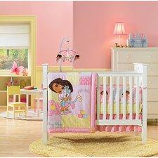 Nickelodeon Dora the Explorer 4 Piece Crib Bedding Set