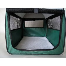 Soft Sided Pet Crate with Sheepskin Mat