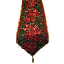 Seasonal Poinsettia Table Runner