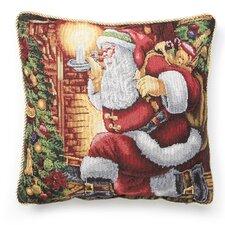 Seasonal Santa Claus Design Throw Pillow