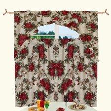Seasonal Garden Holiday Kitchen Curtain Valance and Tier Set