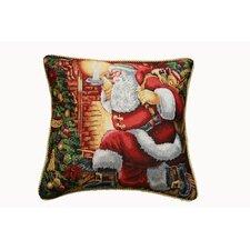 Seasonal Santa Claus Design Pillow Cover