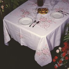 Orchid Floral Embroidered Tablecloth