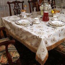 Legacy Floral Damask Fringes Tablecloth