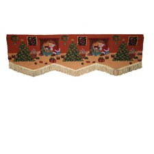 """Seasonal Santa Claus Design 60"""" Curtain Valance"""