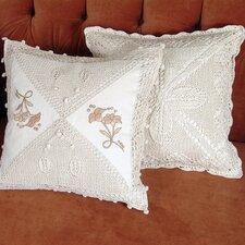 Braided Crochet Stars/Floral Design Throw Pillow