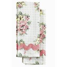 Gingham Floral Waffle Towel Set