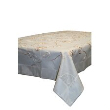 Emerald Embroidered Peach Ribbon Tablecloth