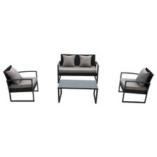 Solana 4 Piece Seating Group with Cushions