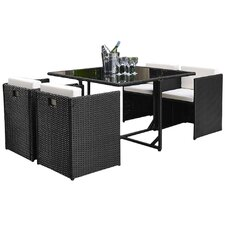 Kennebunk 5 Piece Outdoor Dining Set with Cushions