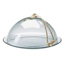 "Eco 13"" Glass Dome and Plate"