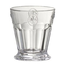 Fleur De Lis 8 Oz. Double Old Fashioned Glass
