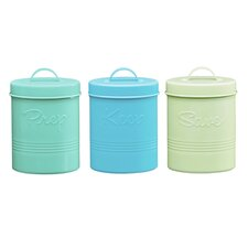 Retro Fifties 50 Oz Metal Canisters (Set of 3)
