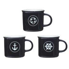Harbor Nautical Coffee Mugs (Set of 6)