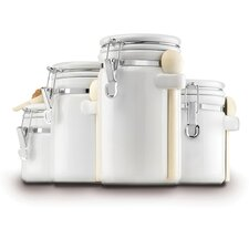 4-Piece Ceramic Canister Set with Lids