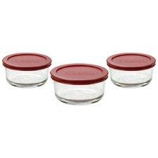 6 Piece Round Kitchen Storage Container Set (Set of 4)