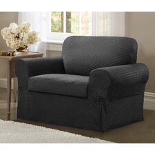Conrad Stretch 2 Piece Chair Box Cushion Slipcover Set