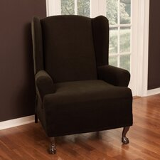 Pixel Stretch Wing Chair T-Cushion Slipcover