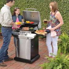 Performance 2 Burner TRU Infrared Gas Grill with Storage Cabinet