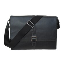 Tyler Tumbled Single Buckle Messenger Bag