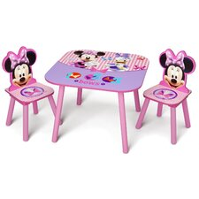 Minnie Mouse Kid's 3 Piece Table and Chair Set